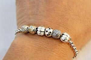 AlTERED Brighton 6 Silver, Enamel Crystal Mini Beads Bracelet
