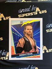 Adam Page AEW Autographed 8 X10  WWE WWF TNA ROH AEW NXT