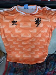 Holland Netherlands Football Soccer Shirt Jersey Retro 1988 Size Large