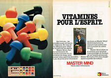 PUBLICITE ADVERTISING 104  1980  MIRO MECCANO  jeux MASTER MIND  ( 2 pages)