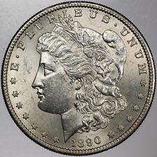 1890-S MORGAN SILVER DOLLAR AMAZING UNC RADIANT BU (MR)