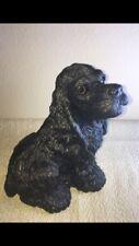 "Vintage Bank Makers of America Realistic Bead Eyes 9.5"" Black Cocker Spaniel Dog"
