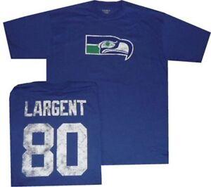 Seattle Seahawks Steve Largent Reebok Throwback Pro Style Oversized Shirt Small