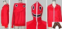 Red Vocaloid Matryoshka miku Len Rin Gumi Hoodie Coat Jacket Cosplay + Gloves