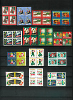 U.S. CHRISTMAS SEALS 20 Diff. Mint Blocks F/VF NH,OG 1938//1974 All Scott Listed