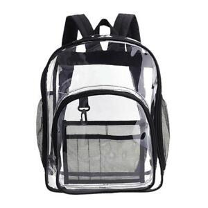 Transparent Bag Transparent Pvc Backpack Travel School Bag Back Safety Unisex