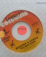 "45rpm 7"" Vinyl Record Buckner & Garcia Pac-Man Fever Columbia Records Single"