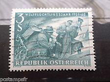 AUTRICHE 1960, timbre 915, ANNEE DU REFUGIE, oblitéré, VF used stamp
