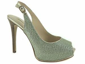 GUESS Women's Huela Platform Pumps Mint Snake Print Leather Size 8.5 M