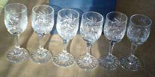 Kieliszki kryształowe (6 szt) Hand-cut crystal glasses vodka wódka likier liquer