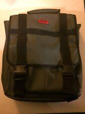 Hugo Boss Messenger Bag Carry-on/ Backpack/ Laptop Bag Olive Green: GENTLY USED