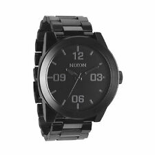 New Nixon Corporal SS Black Dial Black PVD Steel Men's Watch A346001