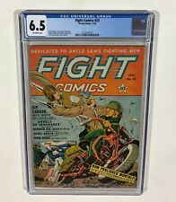 FIGHT COMICS #23 CGC 6.5 RARE! (Nick Cardy, Motorcycle cover) 1943,Fiction House