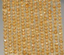4X3-3X2MM CITRINE GEMSTONE GRADE AAA FACETED RONDELLE LOOSE BEADS 13""