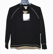 Woolrich - S - NWT - Black & Beige 100% Cotton Loungewear Sweatshirt