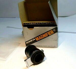 KONICA MAGNIFIER AR VIEW FINDER  for Autoreflex cameras 18mm screw in flip up