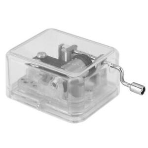 Transparent Music Box Movement Stable Hand-Cranking Music Box Movement For DIY