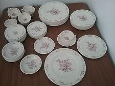 Castleton Belrose Dinner Salad Bread & Butter Plates Cups & Saucer Bowl 50 pcs
