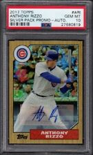 2017 Anthony Rizzo Topps Silver Pack Promo Autograph /15 Graded PSA 10 Gem Mint
