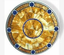 """24"""" round white marble marble table top coffee center room decor home"""