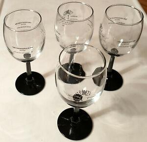4 Wine Goblets - 1995 INDIANAPOLIS SPEEDWAY- JACQUES VILLENEUVE, DALE EARNHARDT