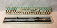 Madeira Miracle Gourmet Serrated Stainless Steel Knife - Vintage with box PRETTY