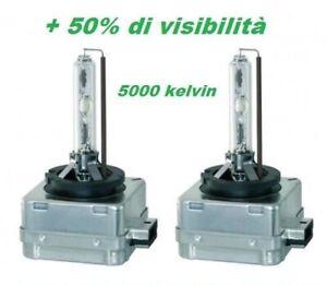 COPPIA SET 2 LAMPADE D1S 5000K FARI XENO XENON BMW VOLKSWAGEN AUDI + 50% DI LUCE