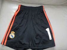 Short *REAL MADRID, Iker Casillas, noir-orange, *ADIDAS, 9/10 ans, enfant