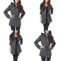 Buffalo David Bitton Grey Utility Anorak Jacket Womens Size Large