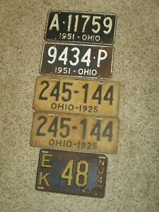 Antique License Plate's
