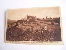 Piacenza - Castello di Montechino (Gropparello) - spedita in busta f. p. 1945