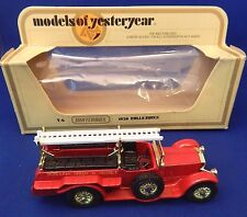 MATCHBOX LESNEY 1978 MODELS OF YESTERYEAR Y-6 1920 ROLLS ROYCE FIRE ENGINE NIB