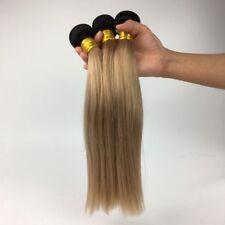 100 Brazilian Human Virgin Hair Straight bundle 1B/27 Omber Double Weft 100g
