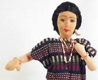 Philippines Lady Doll Stockinette Face Filipino Vintage As Is Condition