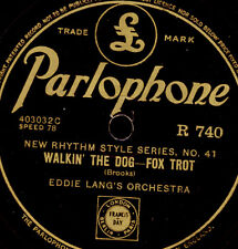 EDDIE LANG'S ORCH. Walkin' the Dog / LUIS RUSSELL  Jersey Lightning 78rpm  X2778