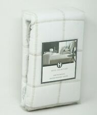 Hotel Collection Waffle Weave Quilted Cotton Linen Pillow Sham - EURO - White