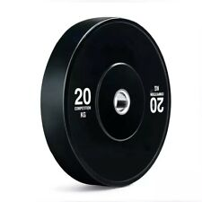 "20 kg Black Olympic Rubber Bumper Plates -  2"" Size."