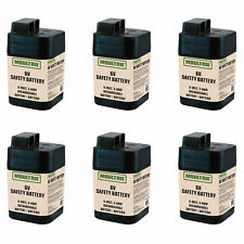 Moultrie 6 Volt Rechargeable Safety Battery for Automatic Deer Feeders (6 Pack)