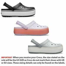 Crocs Crocband Platform Clogs Relaxed Fit Sandals Shoes in Black Grey & Melon