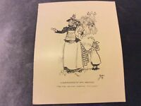Antique Book Print - Phil May Illustrations - 1899