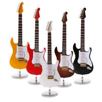 "1/6 Scale Wood Electric Guitar Model w/ Case for 12"" Action Figure Accessory"