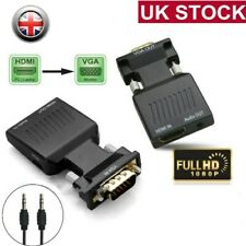 HDMI to VGA Male Female Video Adapter Cable Converter Lead with Audio HD 1080P