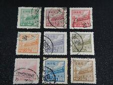 CHINA PRC 1950 Sc#12-20 R1 Tien An Men Gate Postal Used Set