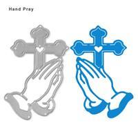 Hand Pray Cutting Dies Stencil for DIY Scrapbooking Album Paper Card Craft Decor