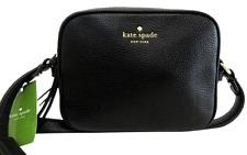 Kate Spade Mulberry Street Pyper Crossbody Black 2 Zip Handbag Purse Clutch NWT