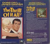VHS: THE THRILL OF IT ALL....DORIS DAY-JAMES GARNER