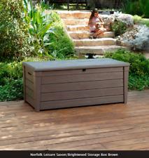 More details for norfolk leisure saxon/brightwood storage box brown