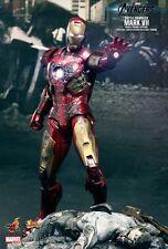 Hot Toys Iron Man Avengers Mark VII Battle Damaged Exclusive! MK7 MMS196 Sealed!