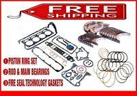 2001-2003 Ford Mustang 232 3.8L OHV V6 ESSEX ReRing Kit w//Full Gasket Set Rings Bearings FITS