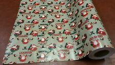 Half ream 24 inch wide Fun Santa Christmas gift wrap 417 feet